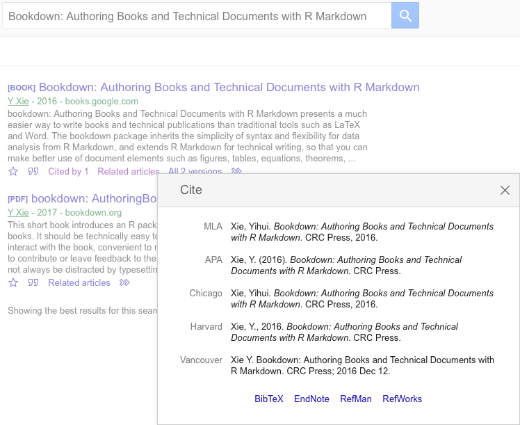 Adding citations to posts - A minimal example website using